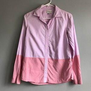 [J.Crew] color blocked button down top